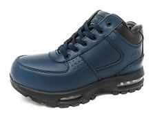 NEW MEN MOUNTAIN GEAR DDAY LE 2 NAVY BLUE LEATHER AIR BUBBLE HIKING LACE UP BOOT