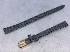 Gray Lizard Calf Leather Watch Bands #428 Nos Vintage Jb Champion 5/16 Reg 8mm