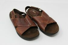 Bass - Cresson  Sandals Brown Leather Slides Casual Open Toe Shoe Women 7W