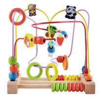 Activity Toys Baby Educational Wooden Bead Maze Toy for Kids Boys and Girls