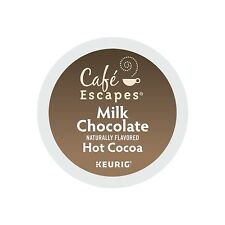 Cafe Escapes Milk Chocolate Hot Cocoa, Keurig K-Cups, 72 Count read description