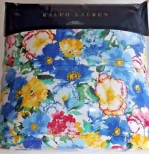 RALPH LAUREN Ashlyn KING COMFORTER Floral Blue Yellow Green Watercolor
