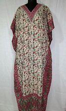 Floral Paisley Beautiful Long Kaftan, Boho Hippy Maxi Caftan Dress, Free Size