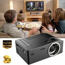 Mini Portable LED LCD Projector Home Cinema Theater Input PC HD 3D AV USB HDMI B