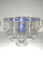 Admiral Cruises Cruise Lines Barware Souvenir Irish Coffee Glass Mug Set of 6