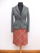 LAURA ASHLEY Herbst A-Linie Rock A-Shape Skirt 100% Schurwolle Gr.38 Top Zustand