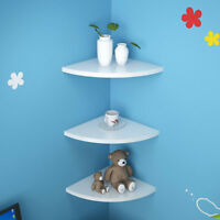 1 pc Storage Rack Decorative Wooden Triangle Fan Shape Wall-mounted Corner Shelf
