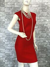 Alexander McQueen Red Stretch Bodycon Cocktail Dress 6 US 42 IT M Runway Auth