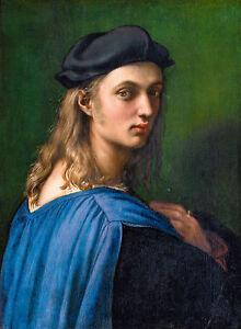 Raphael - Bindo Altoviti, 1515, Rome Italy, Art Poster, Museum Canvas Print