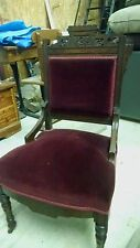 Two antique Red Velvet Chairs