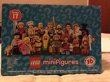 THE LEGO MINIFIGURES SERIES 17 - SEALED DISPLAY BOX OF 60 SEALED PACKETS. BNIB