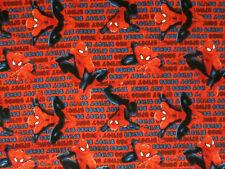 Spiderman Spider Man Super Heroes Comics Crawler Cotton Fabric BTHY