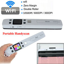 Portable Digital iScan Wifi 1050DPI LCD Scanner Document JPG PDF Photo w/Battery