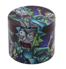 New Rick and Morty Herb Tobacco Grinder Crusher 4 Layer Metal 40mm Storage