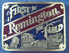 "Guns Hunting Belt Buckle Bergamot A400C ""Remington® First In The Field"" Firearms"