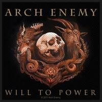 OFFICIAL LICENSED - ARCH ENEMY - WILL TO POWER SEW-ON PATCH DEATH METAL