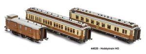 44020 - Hobbytrain- 3-tlg. CIWL Set 1 Simplon-Express- Ep.I - H0 - AC-Version