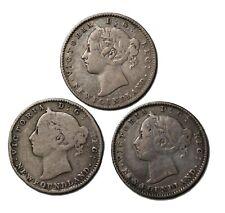 1890 1894 1896 Newfoundland Canada Silver Dime 10 Cents Coins KM#3