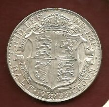 ANGLETERRE 1/2 CROWN  1923 UNCIRCULATED  A/52