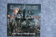 Iron Maiden - A Matter of Life and Death CD Album signed / autograph / signiert