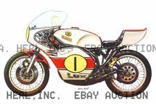 Yamaha 500cc 1974 Agostini winning motorcycle ca 8 x 10 print prent poster