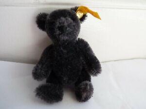 Miniature Steiff Jointed Grey/Black Mohair Teddy Bear
