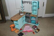 American Girl Gourmet Kitchen Set Many Accessories Included Oven Stove Cooking