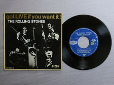 THE ROLLING STONES got live if you want it (French) DECCA 7-inch EP 457.081 M!