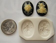 Lot of 2 Fairy Cameo, Polymer Clay Push Molds 25x18mm Make Your Own Jewelry # 2