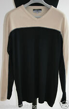 NEW GALERIES LAFAYETTE Long-Sleeve Top Black/Beige Jumper 100% Cotton Pull-Over