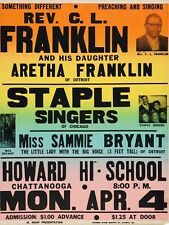 "Gospel Show Aretha Franklin Staple singers 16"" x 12"" Photo Repro Concert Poster"