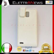 Custodia cover flip verticale per Huawei Ascend P1 U9200 bianco
