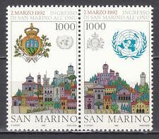 SAN MARINO 1992 Ingresso di S. Marino all'ONU cmpl 2 v. **