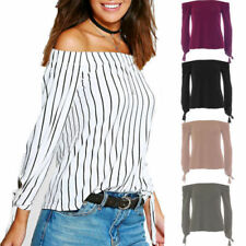 Unbranded Regular Size Striped Tops & Blouses for Women