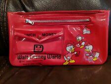 Vintage Disney World Duck Tales Lunch Money Wallet School Case Huey Dewey Louie