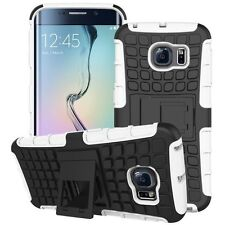 Ibrido 2 teilig Esterni Custodia Bianco Per Samsung Galaxy S6 Bordo Plus G928