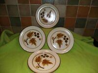 "4 x Denby Cotswold Side plates 8"" 20 cm diameter stoneware 1960's tableware"
