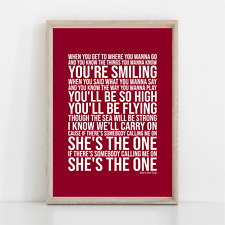 More details for robbie williams she is the one song lyrics poster print wall art