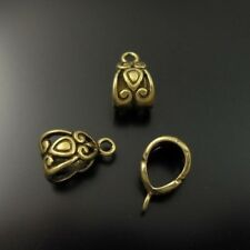 40X Antique Style Bronze Tone Alloy Bail Ring Pendant Charms 11*8*8mm