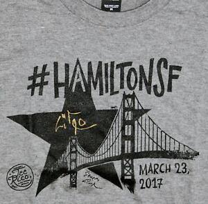 Lin-Manuel Miranda Signed Hamilton San Francisco TeeRico M Shirt