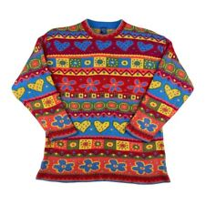 Vintage 90's Sweater Shop Colourful Sweater Multicoloured Womens 8-10 Made In UK