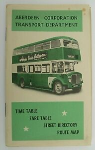 ABERDEEN CORPORATION TRANSPORT 1961-1962 ~ OFFICIAL TIMETABLE BOOKLET