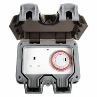 Masterplug Weatherproof Timer Controlled 13A Outdoor Power Socket 1 Gang Storm