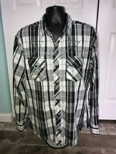 Buckle Black Label Slim Fit Snap Front Long Sleeve Shirt Size XL