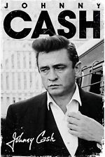 JOHNNY CASH SIGNATURE POSTER (91x61cm) ANGRY FACE SUIT NEW WALL ART