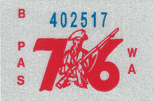 1976 WASHINGTON Vinyl Sticker Decal -CAR/Passenger License Plate Reg.TAB TAG-New