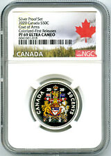 2020 CANADA 50 CENT SILVER COLORED PROOF NGC PF69 UC HALF DOLLAR FIRST RELEASES