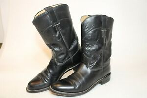 Justin USA Made Made Womens 8 B Classic Roper Leather Western Cowboy Boots L3703