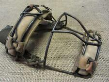 Vintage Wire & Leather Baseball Catchers Mask > Antique Old Ball Equipment 8217