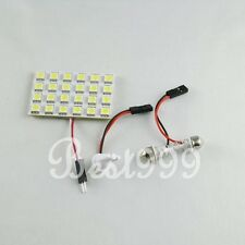 White 24 Leds 5050 SMD LED Car Interior Dome Roof Ceiling Reading Light T10 12V